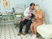 One mature woman gets her pussy examined by a perverted ...