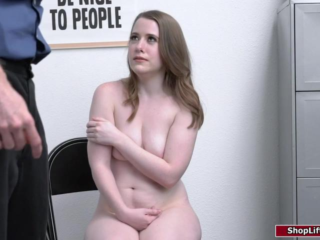 Young shoplifter caught and gets fucked