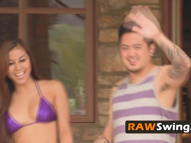 Hot Asian couple is ready to bang in a wild swinger orgy tonight!