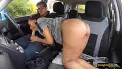 Sexy ebony babe Sade Rose gets pounded by driving instructor
