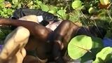 European male fancy fucking natural black beauty pussy outdoor