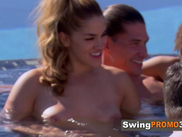 Cock sucking and swinger with big tits makes the swinger experience a bit more hot than ever.