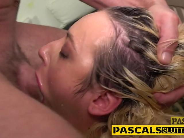 Bound rough fuck MILF squirts pussy juice