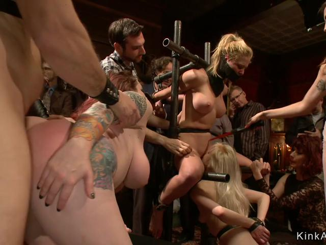 Food fetish in bdsm orgy party