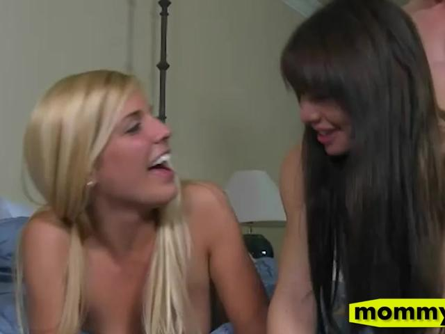 Carmen Monet and Janet Moore nasty 3some in the bedroom
