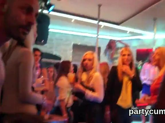 Naughty teenies get totally fierce and stripped at hardcore party