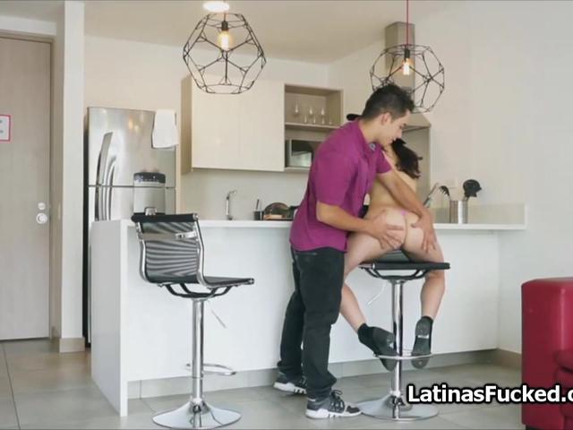 Big ass Latina teen on top of a big cock