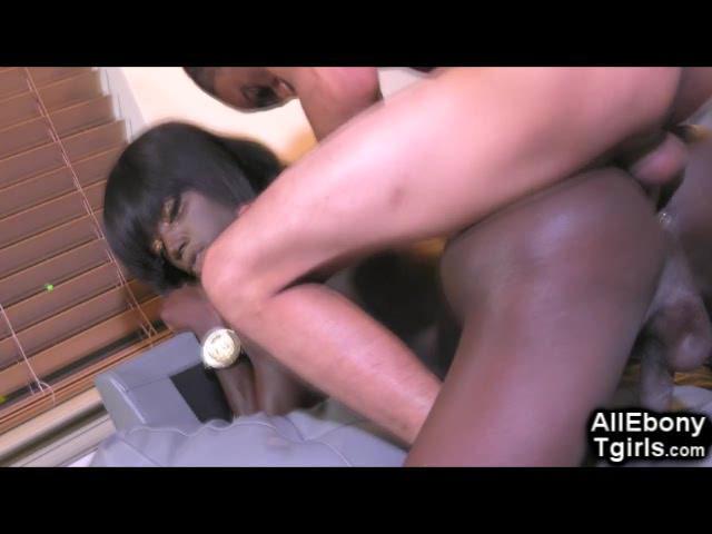 Ebony Teen Trans Interracial Fuck!
