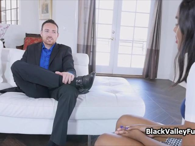 Black coed rides deans cock for better grades