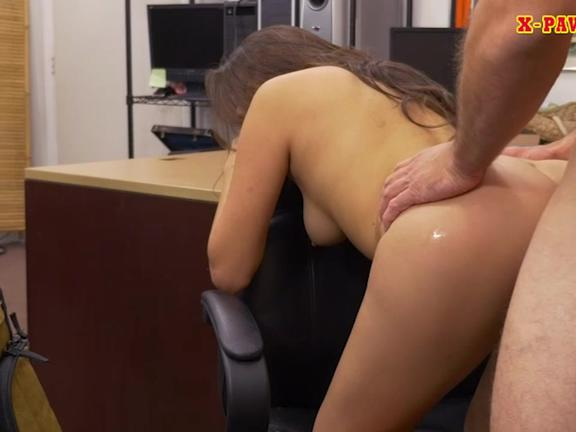 Hot babe drilled by horny pawn keeper at the pawnshop