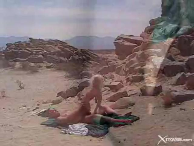 Skinny bitch gets fucked violently on the beach...