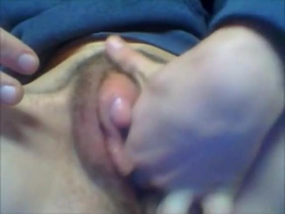 Rubbing my swollen huge clit