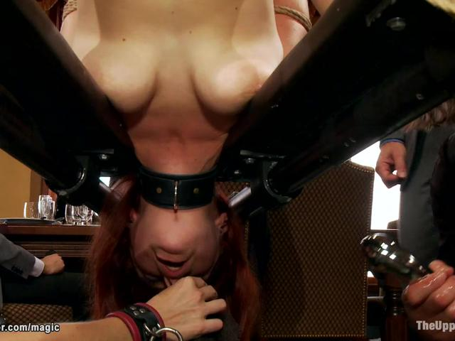 Slaves boobs fucked by bbc at party