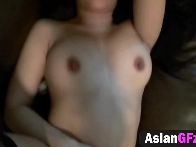 Horny Asian girlfriend gets cunt filled by rod