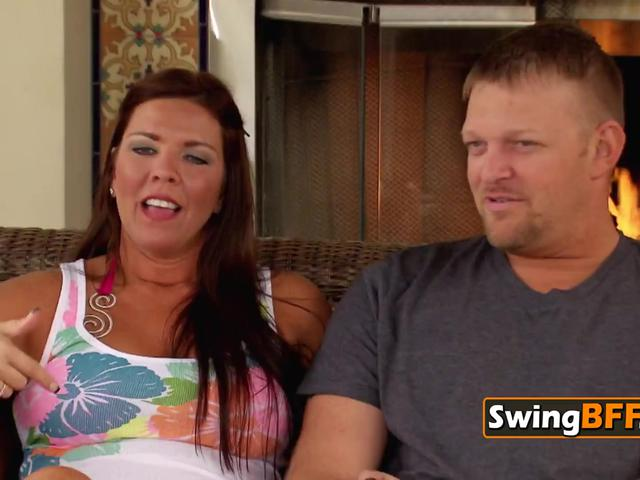 Swing couple evaluates the high pressure situation as they go over contract