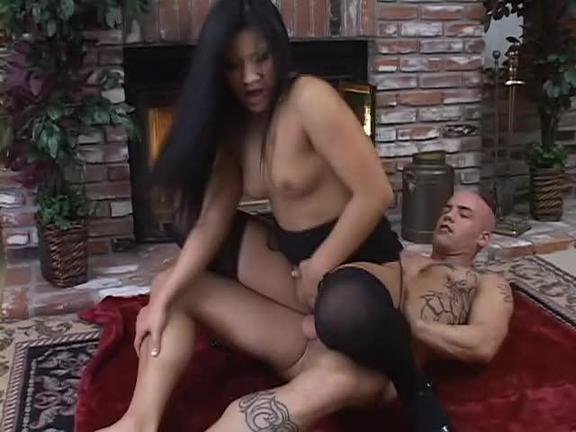 Big-Breasted Asian Whore Enjoys Ass-Pounding