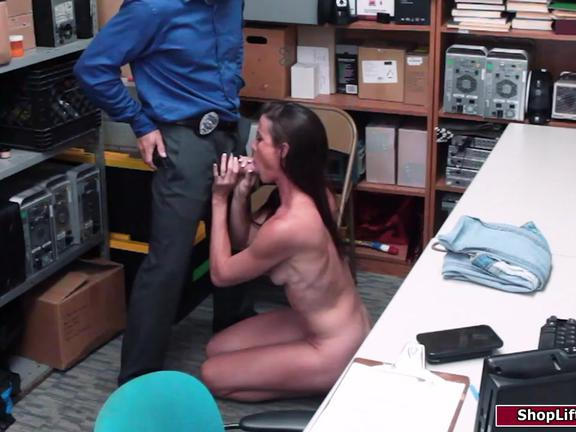 Small tits milf gets busted and fucked