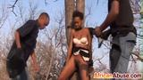Hot African Babe Tortured And Pounded Outdoors