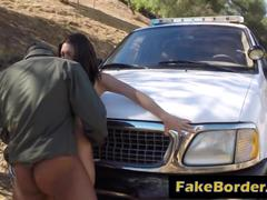 Fake border patrol puts law in his big cock sentenced teen amateur pussy outdoor