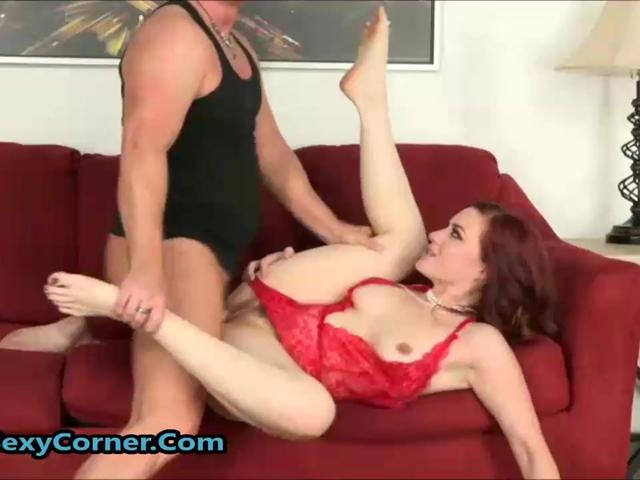 Beautiful Hairy Redhead Banged Hard And Swallowed Cum