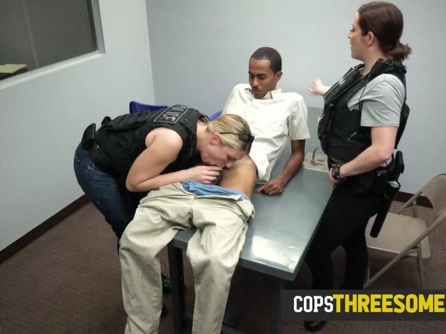 Undercover operation leads criminal to get his cock ridden by milf cops