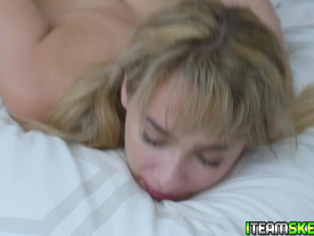 Anna begs for more as the studs plows her from behind
