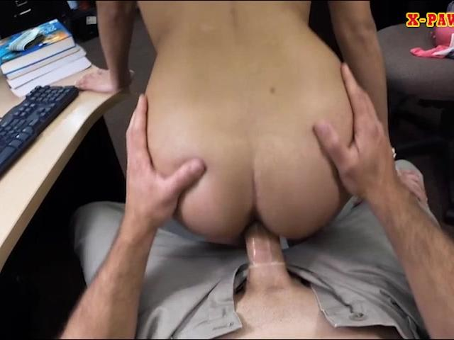 College girl pawns her pussy and nailed at the pawnshop