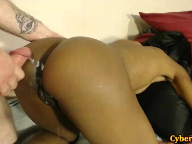 White on Black Couple Creampie In The Morning