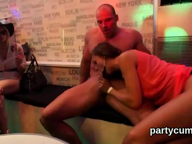 Naughty chicks get totally crazy and stripped at hardcore party