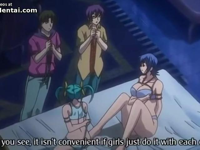 Hentai busty college girls have group sex at Topheyhentai.com
