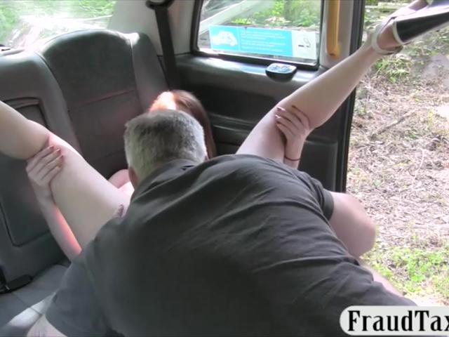 Sexy passenger gets pussy railed for a free cab fare