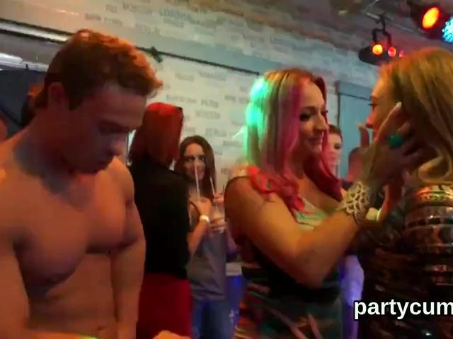 Foxy sweeties get entirely delirious and nude at hardcore party