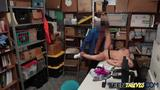 Slutty teen Lily Adams got caught stealing and now she is being punished