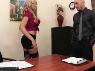 Darcy Tyler Deep-Throat Her Boss Dick