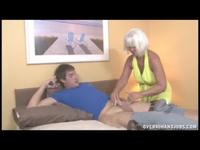 Kinky Old Woman Gives BJ To Relentlessly Handsome Dude
