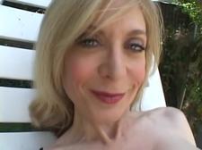 Amazing Slut  Wearing StockingMasturbates Outdoors