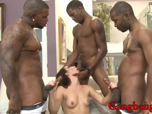 Marley Blaze DP by huge black cocks in many positions
