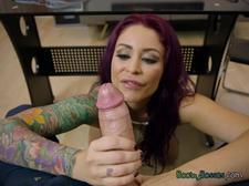 Hottie Monique Alexander Plays With Huge Cock Of Boss