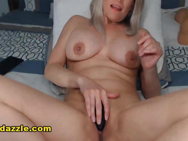 Hot Blonde Spreading Her Neatly Shaved Pussy
