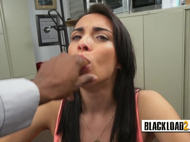Black casting agent loves doing his job just for getting his big black cock sucked
