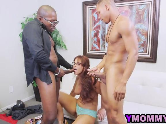 Horny White MILF Is In Ecstasy While Getting Double Penetrated By Black Guys