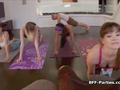 Yoga turns to bj orgy party