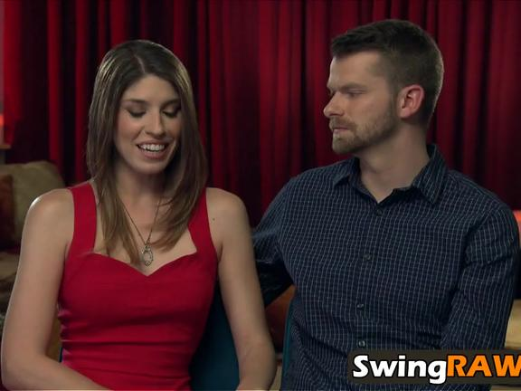 Slutty babes pounding other partners in swinger show