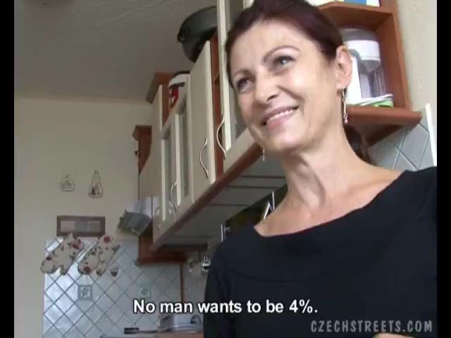 Horny Czech Mom  Gives BJ To A Lucky Boner