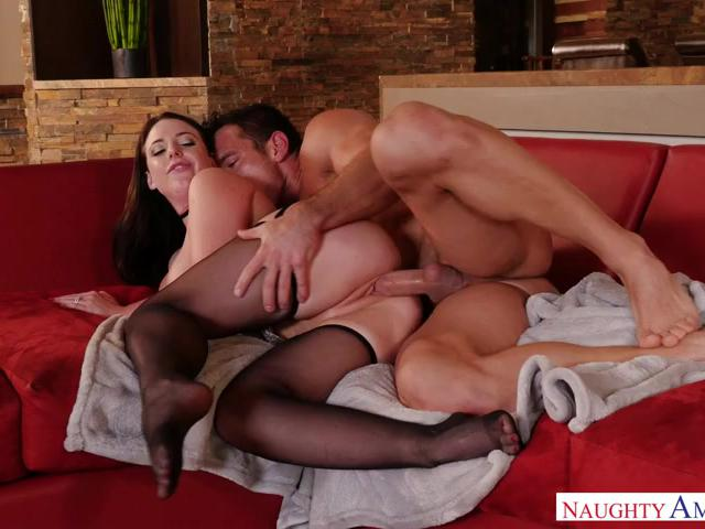 Angela White is horny and wants young cock