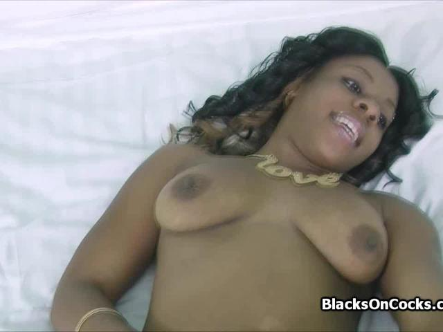 Toying and cocking black amateur