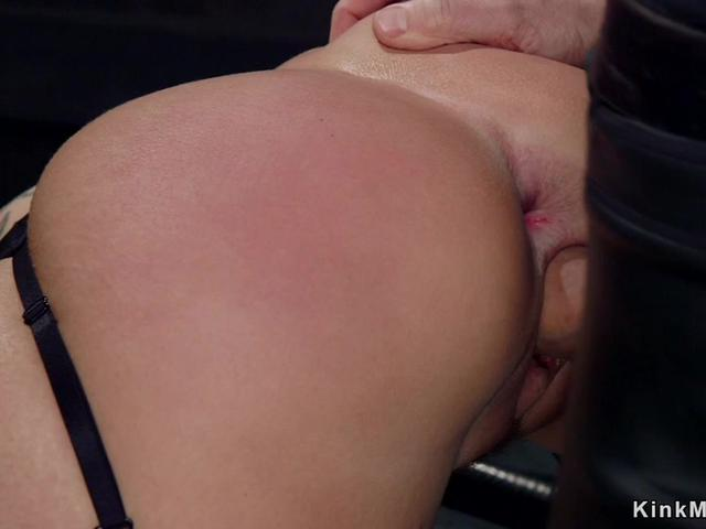 Master and assistant anal fucks Milf sub