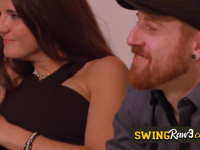 Redhead gets horny to be fucked at the red room with swinger couples. Full video on the website.