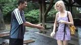 Watch that great porno clip. First, that sexy blonde Amanda Bryant sucks off one aroused weiner. Then ...