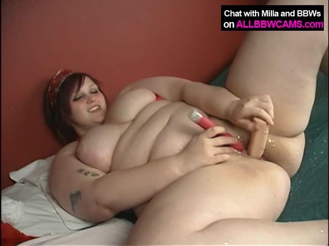 Big Brunette Girl Crams Sex Toy Up Her Needy Twat
